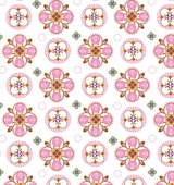 Pink Small Moroccan Fabric