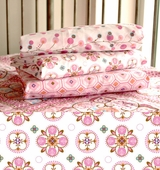 Pink Small Moroccan Fitted Crib Sheet