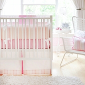 Pink Sorbet 2-Piece Crib Bedding Set