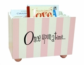 Pink Stripe Wooden Book Holder