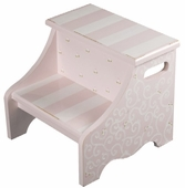 Pink Stripes & Swirls Step Stool