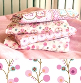 Pink Twiggy Changing Pad Cover