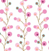 Pink Twiggy Fabric