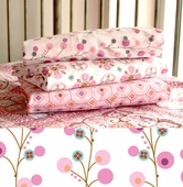Pink Twiggy Fitted Crib Sheet