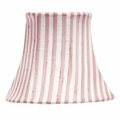 Pink & White Stripe Chandelier Shade