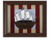 Pirate Ship Framed Giclee Print