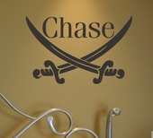 Pirate Swords Custom Personalized Wall Decal