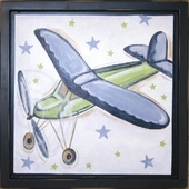 Plane Mounted Deco Art Print