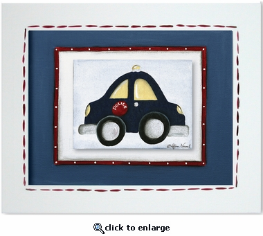 Police Car Custom Framed Giclee Print