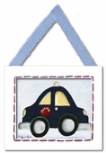 Police Car Framed Giclee Print
