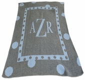 Polka Dot Border Personalized Blanket