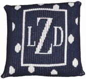 Polka Dot Border Personalized Pillow