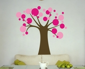 Polka Dot Candy Tree Custom Wall Decal