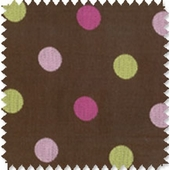 Polka Dot Chocolate Fabric