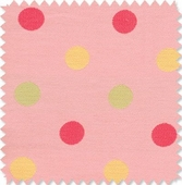 Polka Dot Pink Fabric