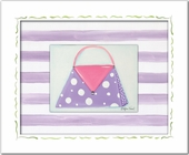 Polka Purse Custom Framed Giclee Print