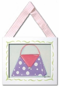 Polka Purse Framed Giclee Print