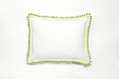 Pompom Green Throw Pillow