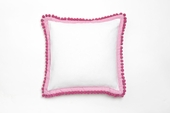 Pompom Pink Throw Pillow