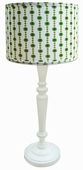 Pool Boy Shade with White Spindle Lamp