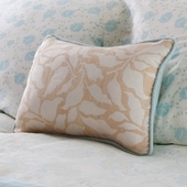 Pool Camille Decorative Boudoir Pillow in Silk Foliage with Piping
