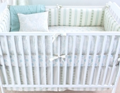 Pool Camille Plump Crib Bumper with Natural Trim
