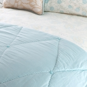 Pool Camille Quilted Coverlet in Pool Sateen