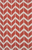 Poppy Red Chevron Fallon Hand-Woven Rug