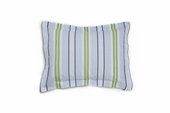 Preppy Stripe Blue Standard Sham