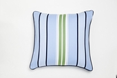 Preppy Stripe Blue Throw Pillow