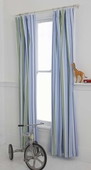 Preppy Stripe Blue Window Panel