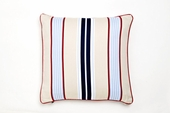 Preppy Stripe Khaki Throw Pillow