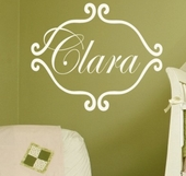 Princess Clara Custom Personalized Wall Decal