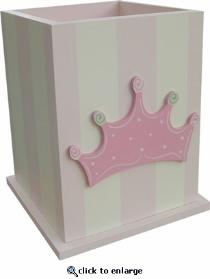 Princess Crown Wastebasket