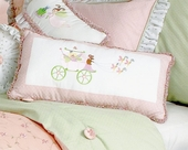 Princess Embroidered Lumbar Pillow