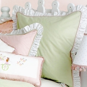 Princess Green Gingham Euro Sham
