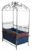 Princess Iron Canopy Crib