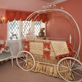 Pumpkin Iron Canopy Crib