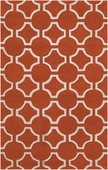 Pumpkin Orange Link Zuna Hand-Tufted Rug