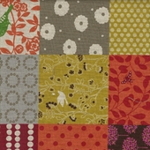 Pumpkin Patchwork Fabric