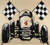Racing Hand Painted Canvas Mural