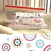 Red Circle Dot Changing Pad Cover
