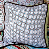 Red Classic Square Accent Pillow