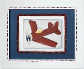 Red Plane Custom Framed Giclee Print