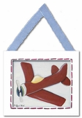 Red Plane Framed Giclee Print