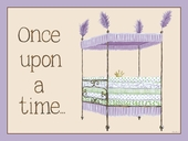 Regal Storybook Bed in Lavender Canvas Wall Art