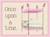 Regal Storybook Bed in Pink Canvas Wall Art