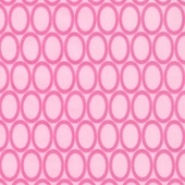 Retro Circles in Pink Fabric