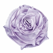 Ribbon Rose Magnet Set of 3 - Lavender