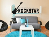 Rock Star Leave Your Mark Custom Wall Decal